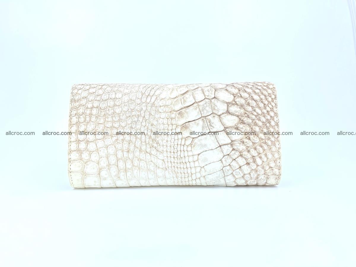 Genuine Crocodile skin trifold wallet, long wallet for women 458 Foto 1