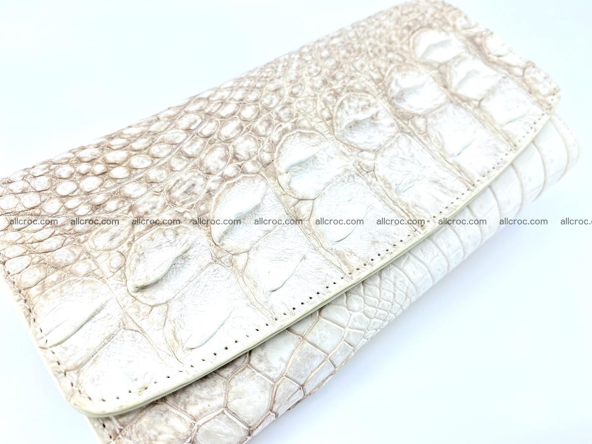 Genuine Crocodile skin trifold wallet, long wallet for women 458 Foto 2