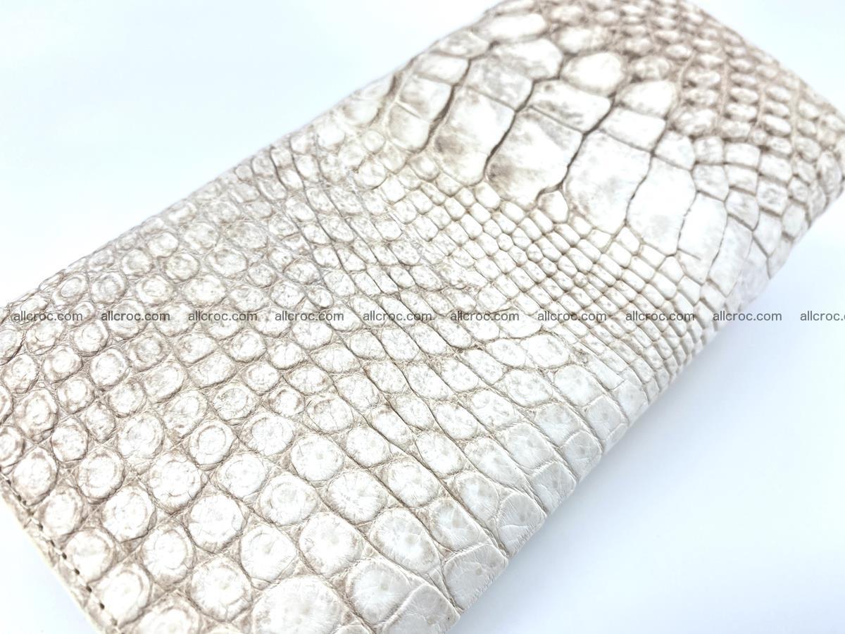 Genuine Crocodile skin trifold wallet, long wallet for women 458 Foto 3