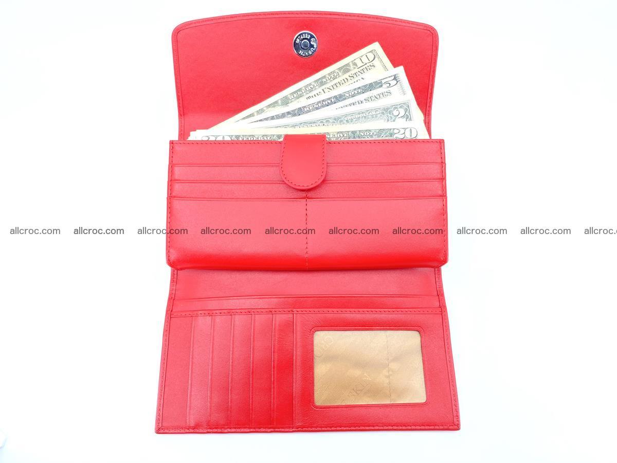 Genuine Crocodile skin trifold wallet, long wallet for women 454 Foto 5