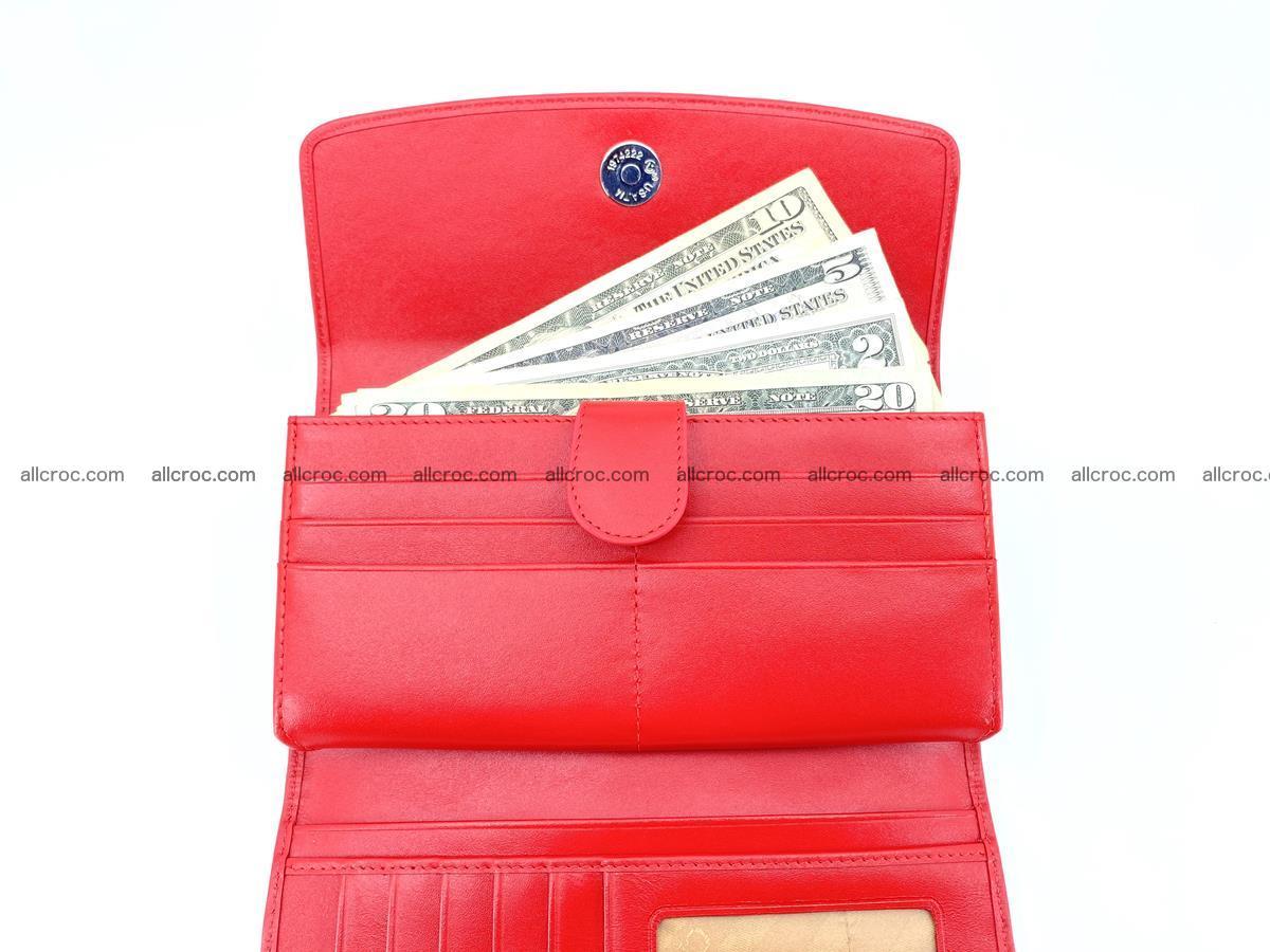 Genuine Crocodile skin trifold wallet, long wallet for women 454 Foto 6