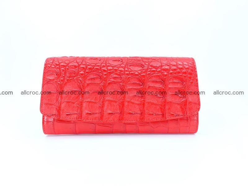 Genuine Crocodile skin trifold wallet, long wallet for women 454