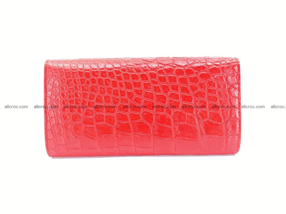 Genuine Crocodile skin trifold wallet, long wallet for women 454 Foto 1