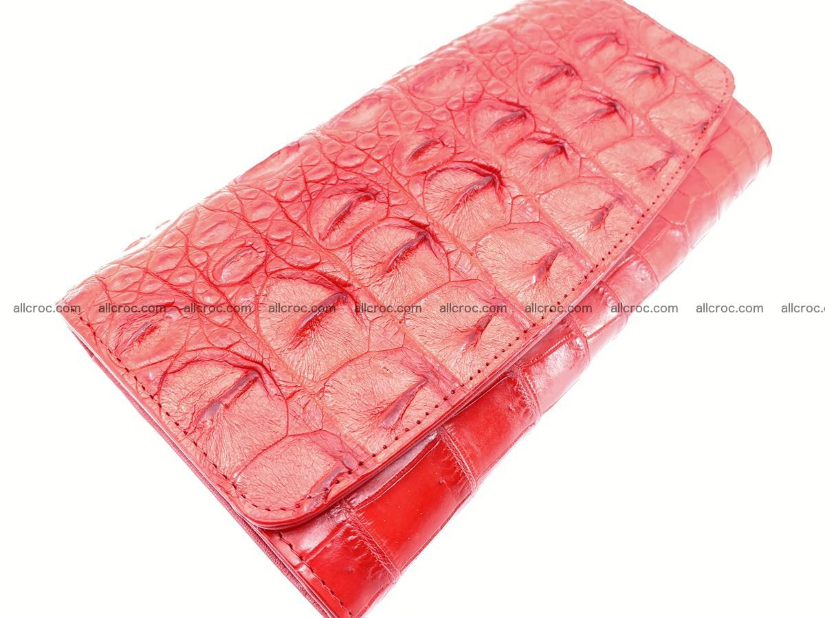 Genuine Crocodile skin trifold wallet, long wallet for women 454 Foto 2