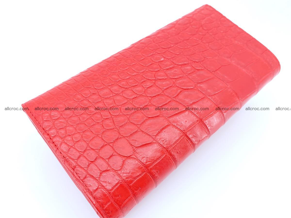 Genuine Crocodile skin trifold wallet, long wallet for women 454 Foto 3