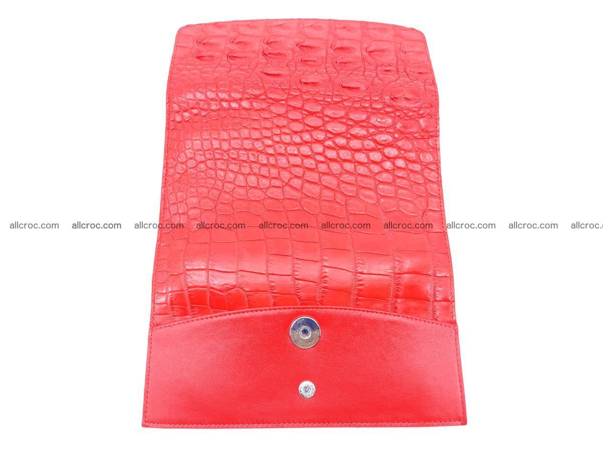 Genuine Crocodile skin trifold wallet, long wallet for women 454 Foto 10