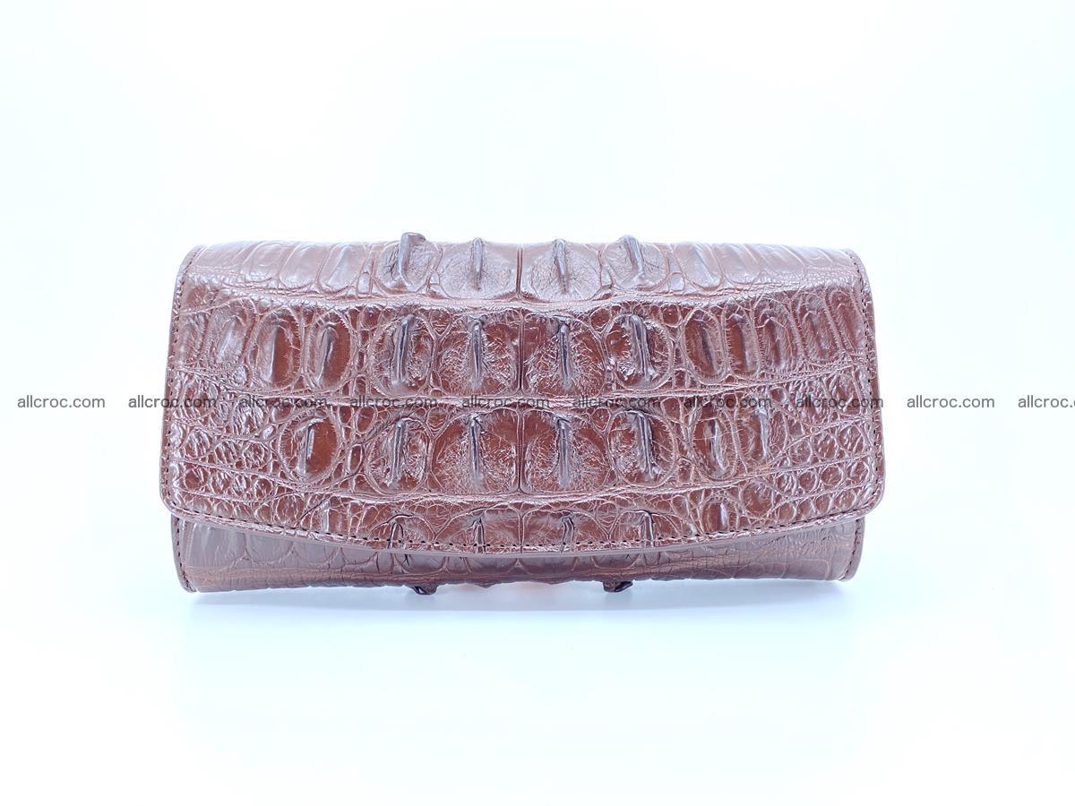 Genuine Crocodile skin trifold wallet, long wallet for women 461 Foto 0