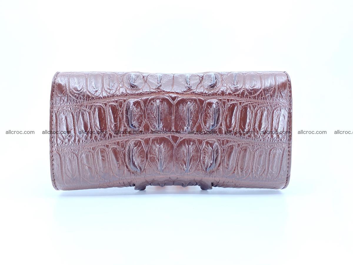 Genuine Crocodile skin trifold wallet, long wallet for women 461 Foto 1
