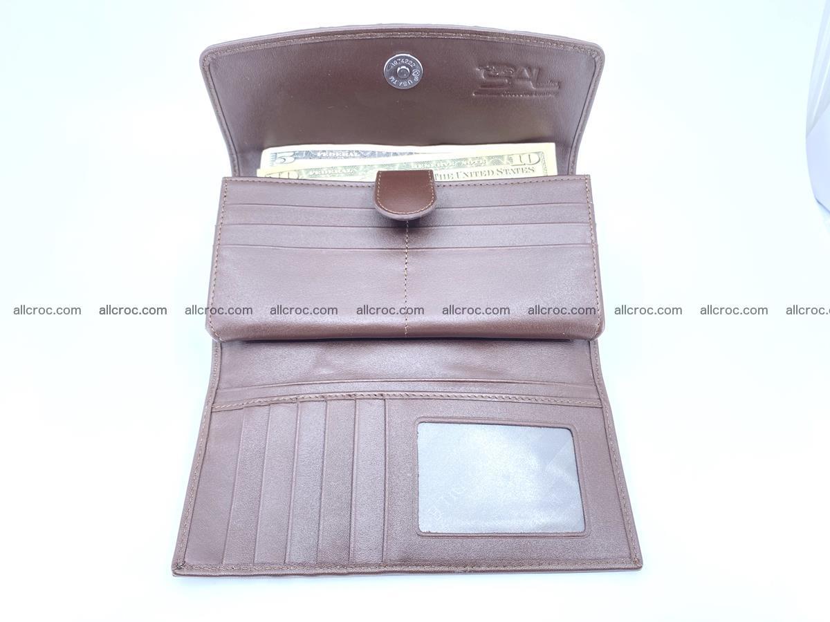 Genuine Crocodile skin trifold wallet, long wallet for women 461 Foto 4