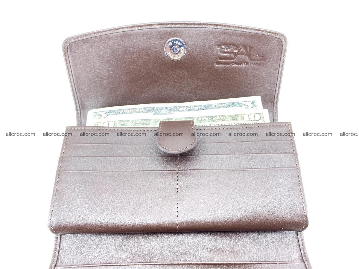 Genuine Crocodile skin trifold wallet, long wallet for women 461 Foto 5