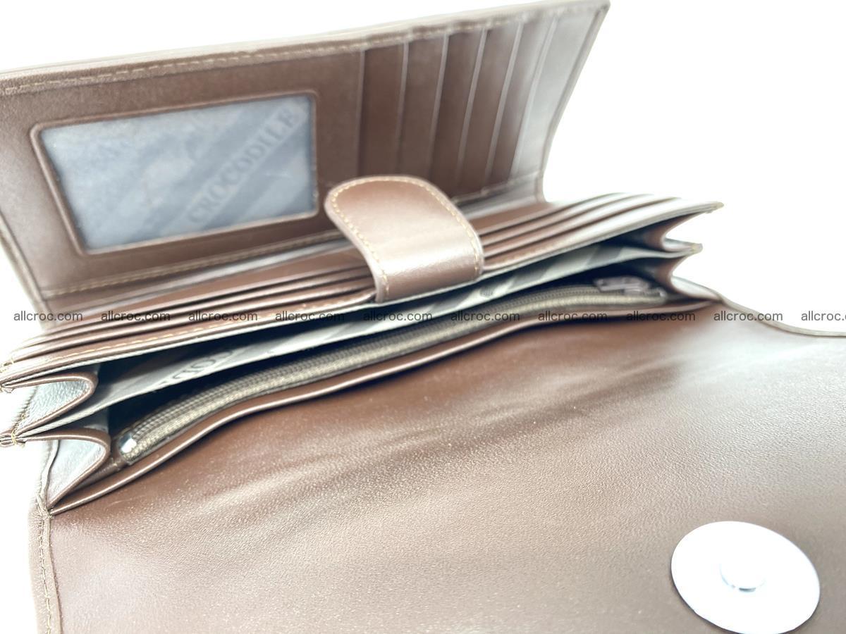Genuine Crocodile skin trifold wallet, long wallet for women 461 Foto 6