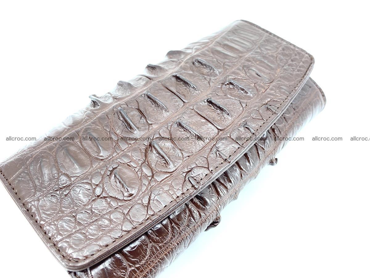 Genuine Crocodile skin trifold wallet, long wallet for women 461 Foto 3