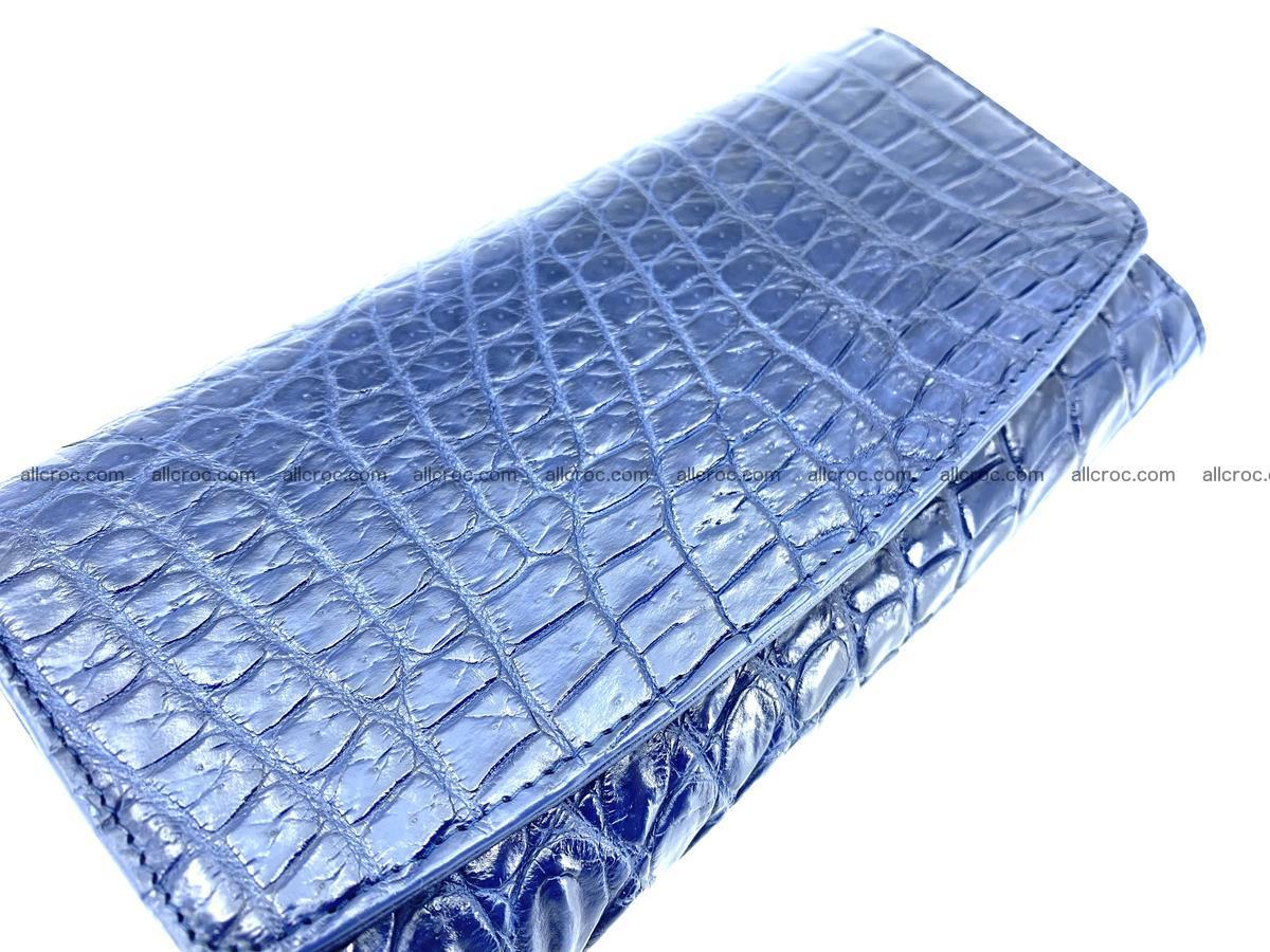 Siamese crocodile skin long wallet for women 469 Foto 2