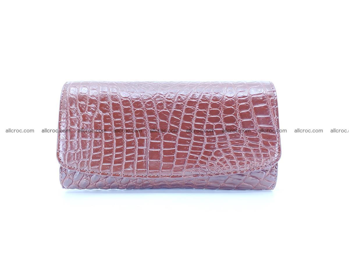 Genuine Crocodile skin trifold wallet, Siamese crocodile skin long wallet for women 463 Foto 0