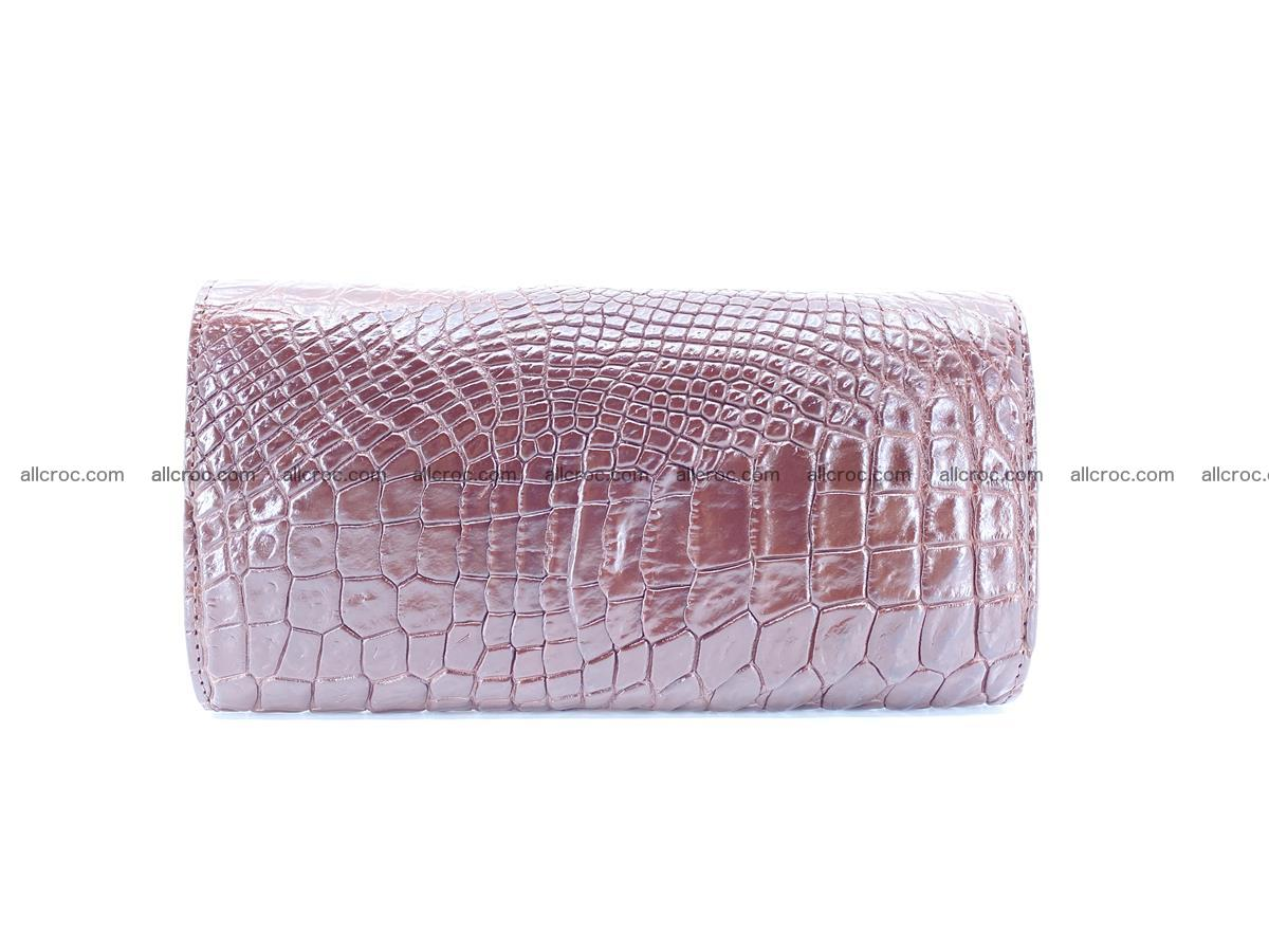 Genuine Crocodile skin trifold wallet, Siamese crocodile skin long wallet for women 463 Foto 1