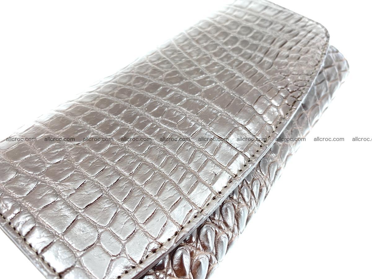 Genuine Crocodile skin trifold wallet, Siamese crocodile skin long wallet for women 463 Foto 3