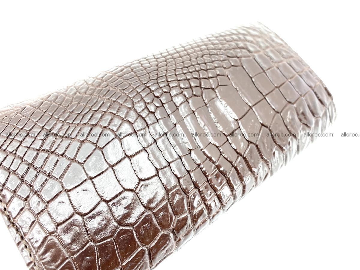 Genuine Crocodile skin trifold wallet, Siamese crocodile skin long wallet for women 463 Foto 2