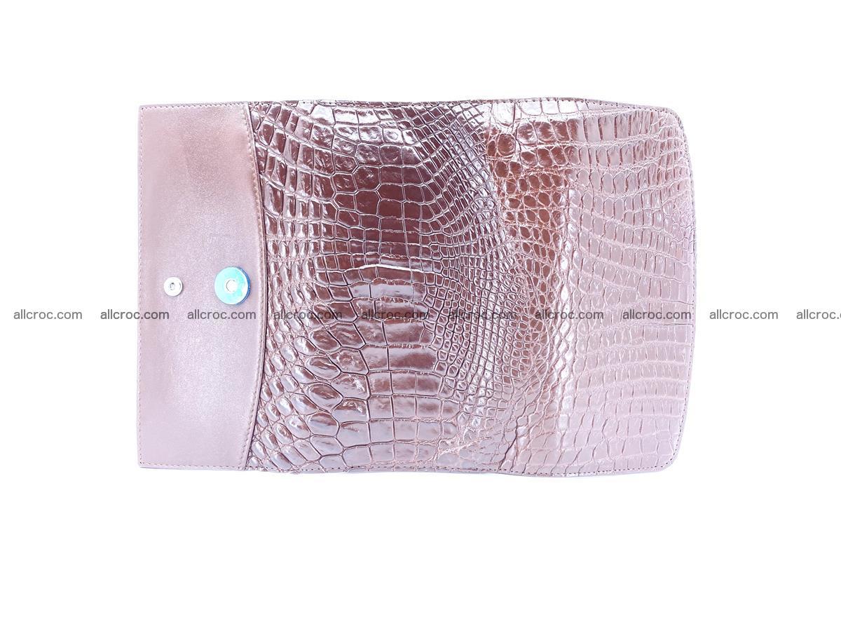 Genuine Crocodile skin trifold wallet, Siamese crocodile skin long wallet for women 463 Foto 7