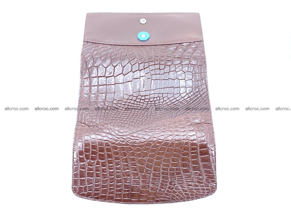 Genuine Crocodile skin trifold wallet, Siamese crocodile skin long wallet for women 463 Foto 8
