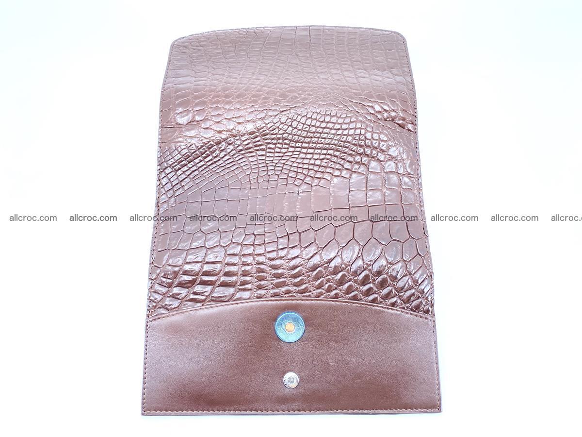 Genuine Crocodile skin trifold wallet, Siamese crocodile skin long wallet for women 463 Foto 9
