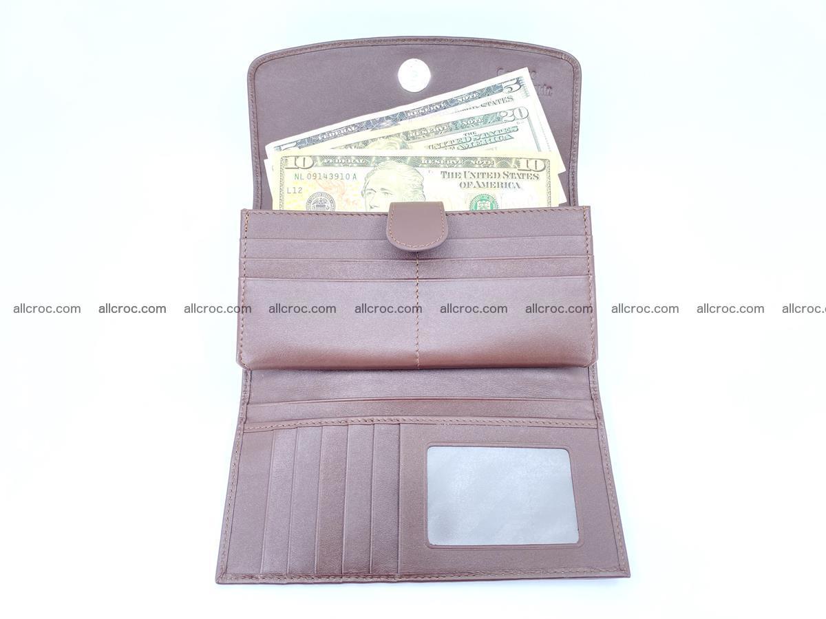 Genuine Crocodile skin trifold wallet, Siamese crocodile skin long wallet for women 463 Foto 4