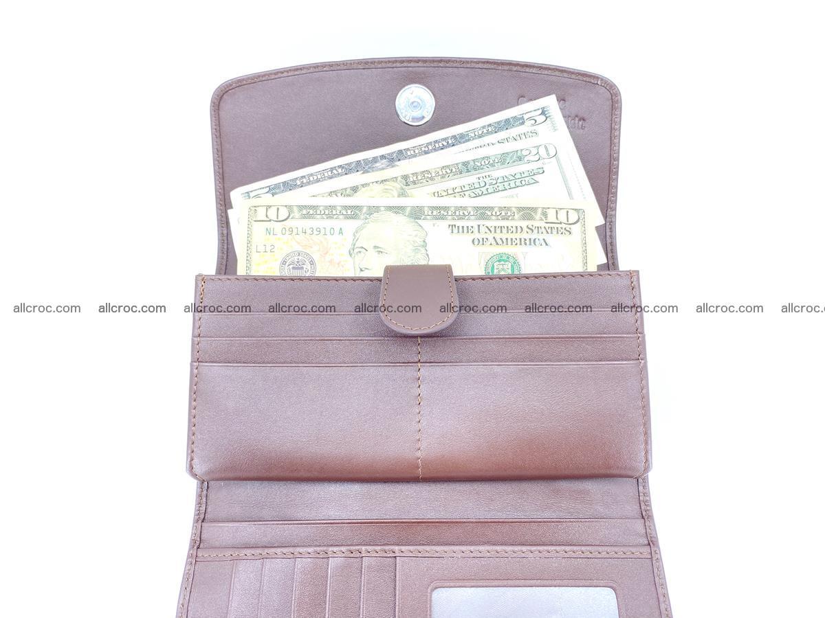 Genuine Crocodile skin trifold wallet, Siamese crocodile skin long wallet for women 463 Foto 5