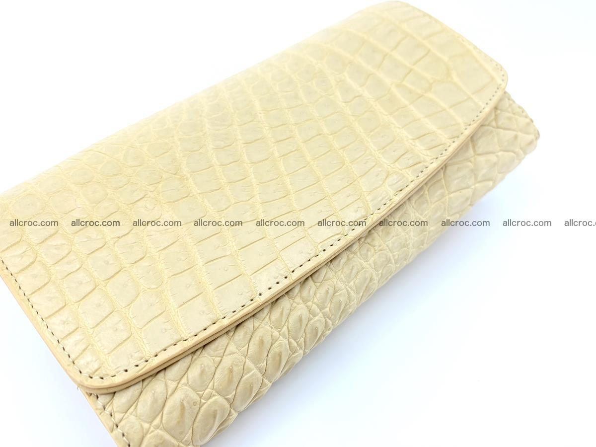 Siamese crocodile skin long wallet for women 477 Foto 2