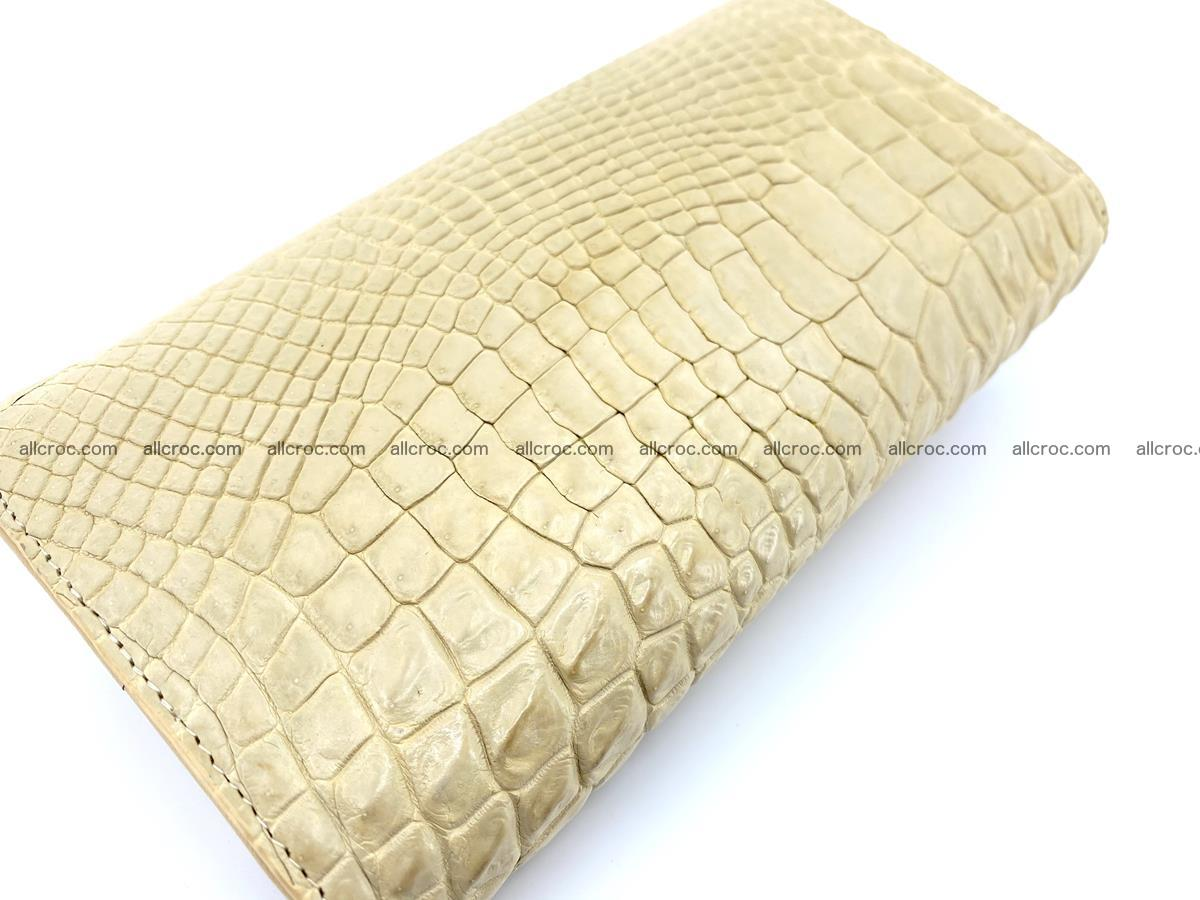 Siamese crocodile skin long wallet for women 477 Foto 3