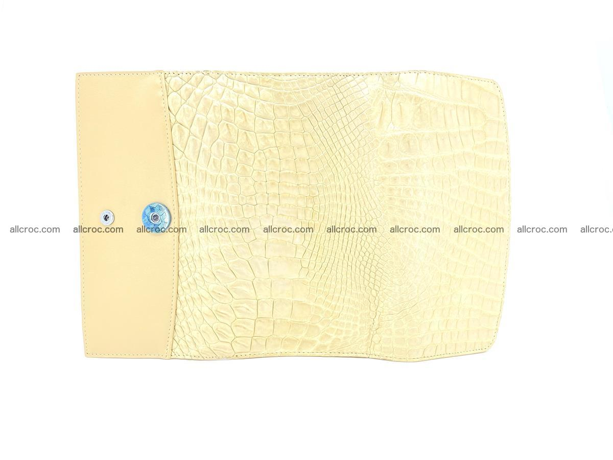 Siamese crocodile skin long wallet for women 477 Foto 7