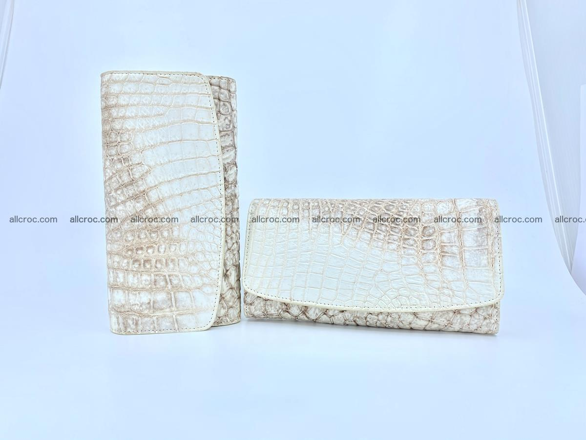 Siamese crocodile skin long wallet for women 459 Foto 10
