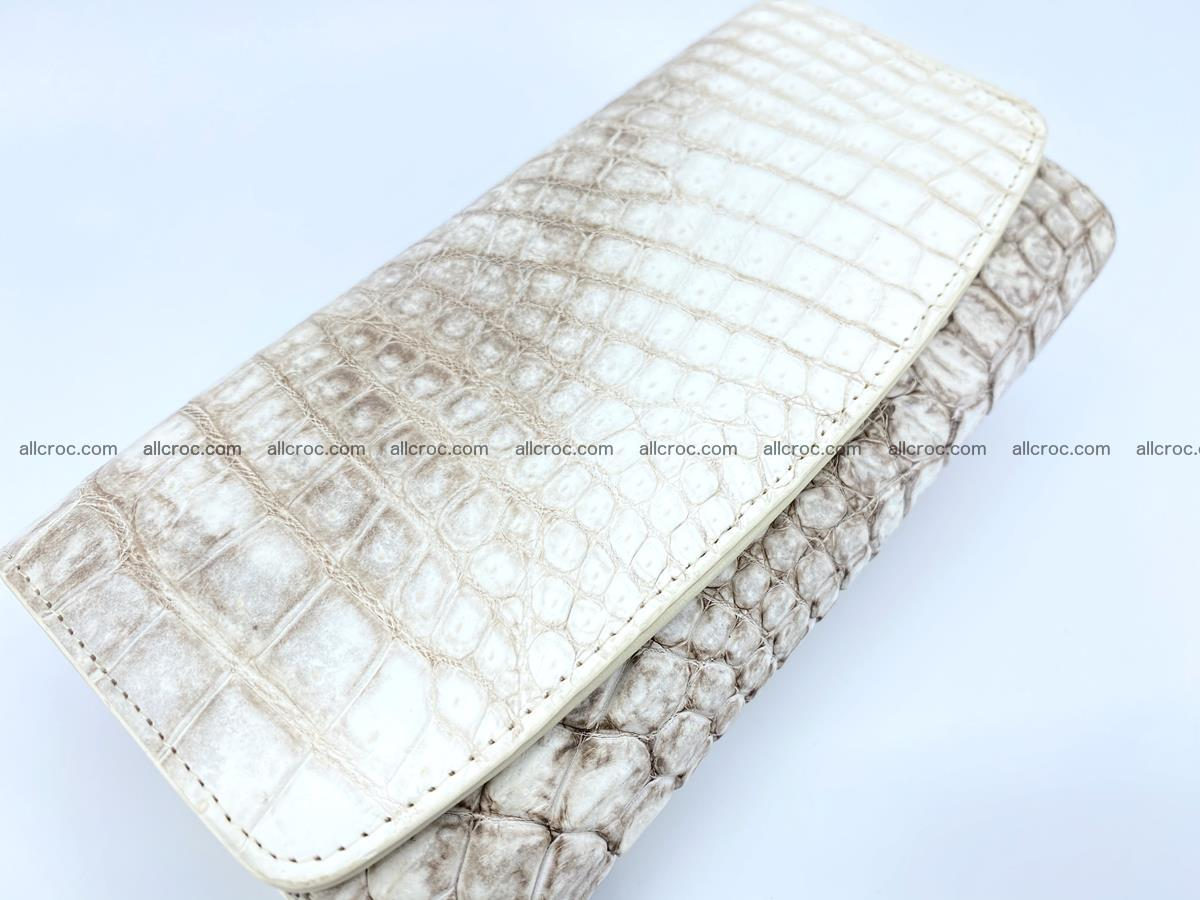 Siamese crocodile skin long wallet for women 459 Foto 2