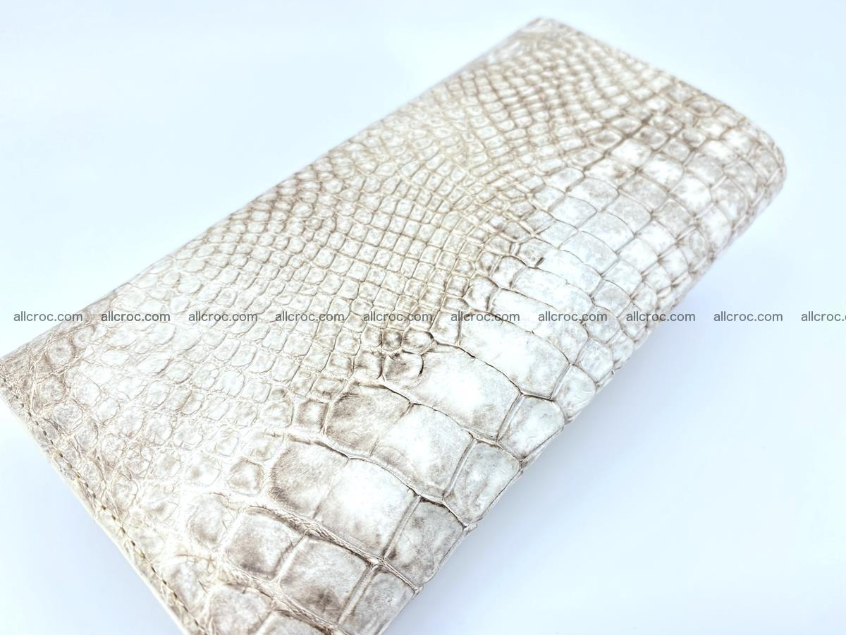 Siamese crocodile skin long wallet for women 459 Foto 3