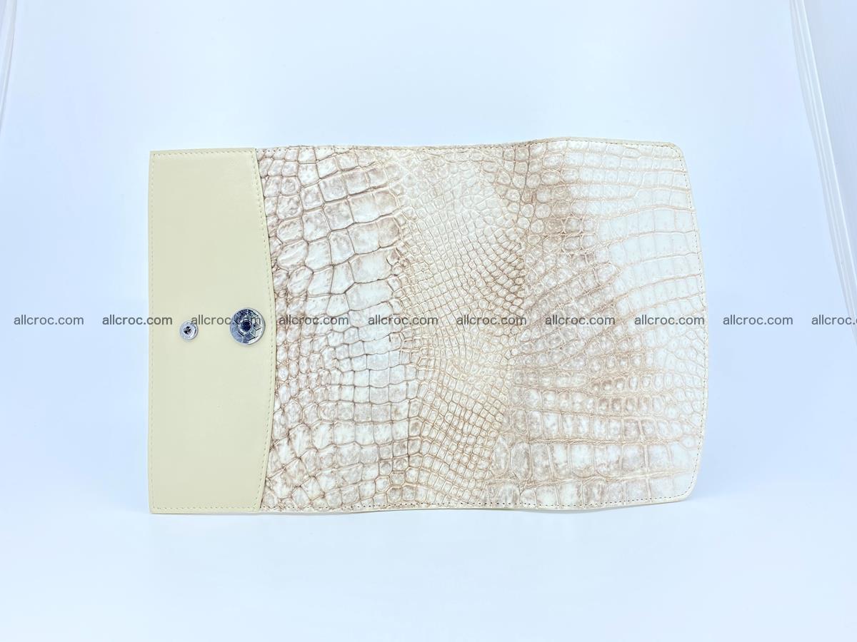 Siamese crocodile skin long wallet for women 459 Foto 7