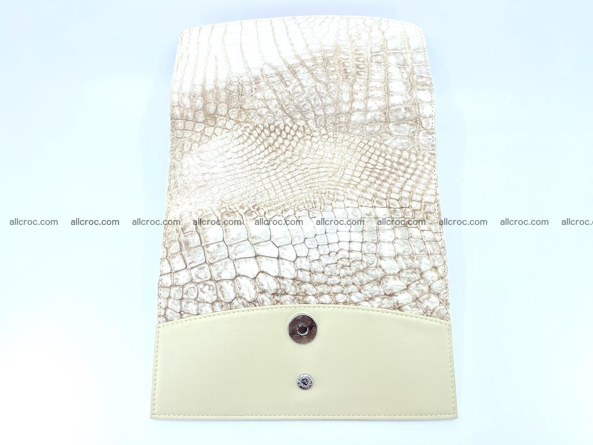 Siamese crocodile skin long wallet for women 459 Foto 8