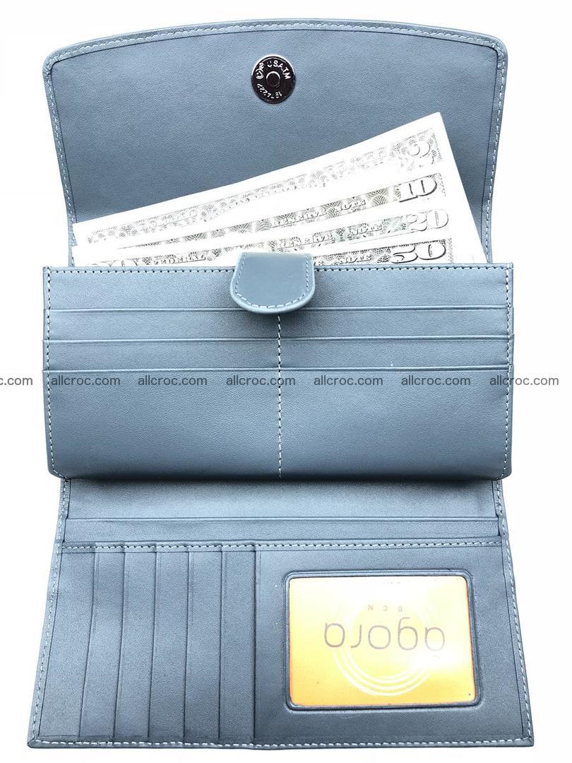 Siamese crocodile skin long wallet for women 474 Foto 5