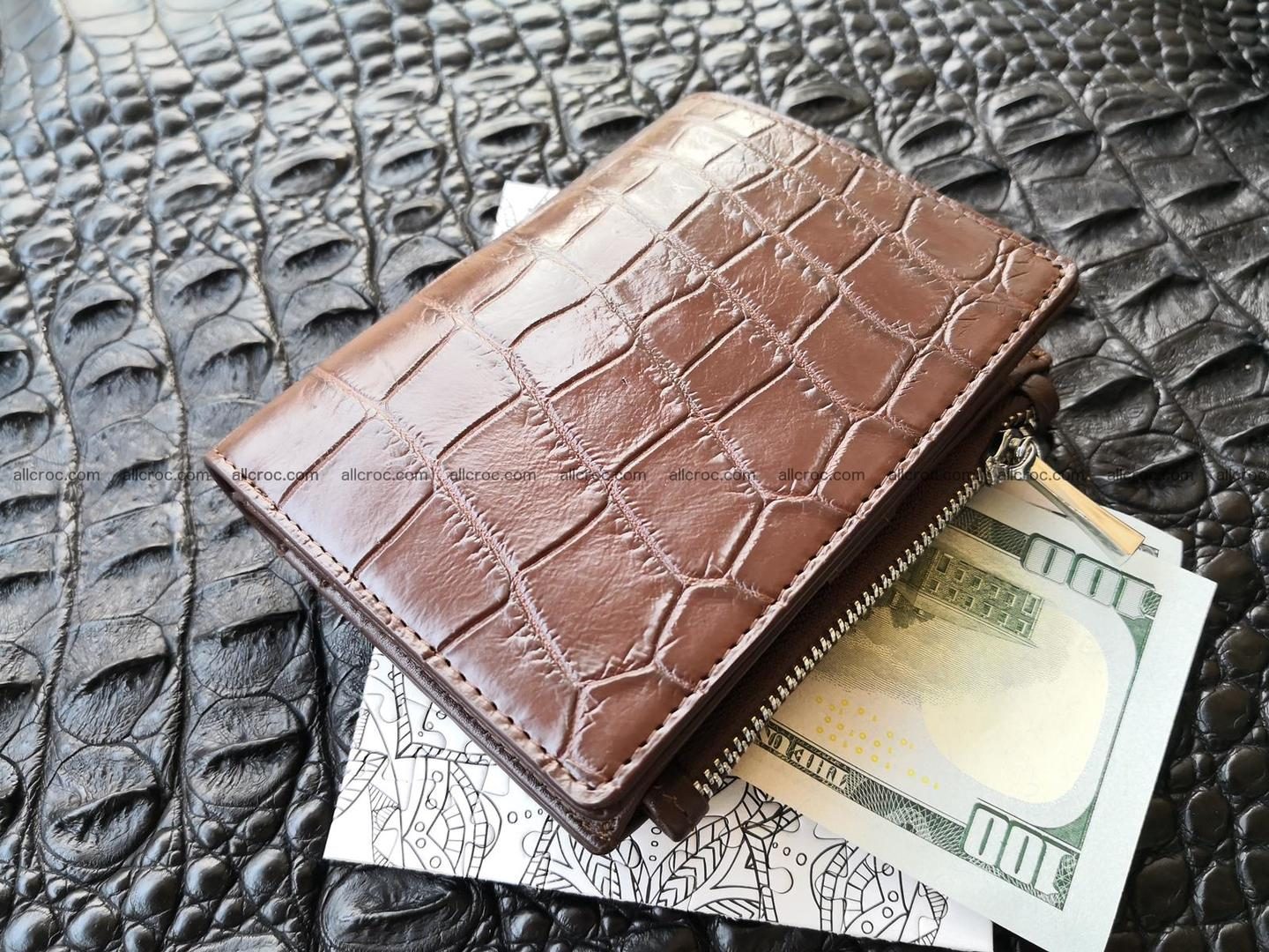 Genuine crocodile skin wallet belly part 392 Foto 0
