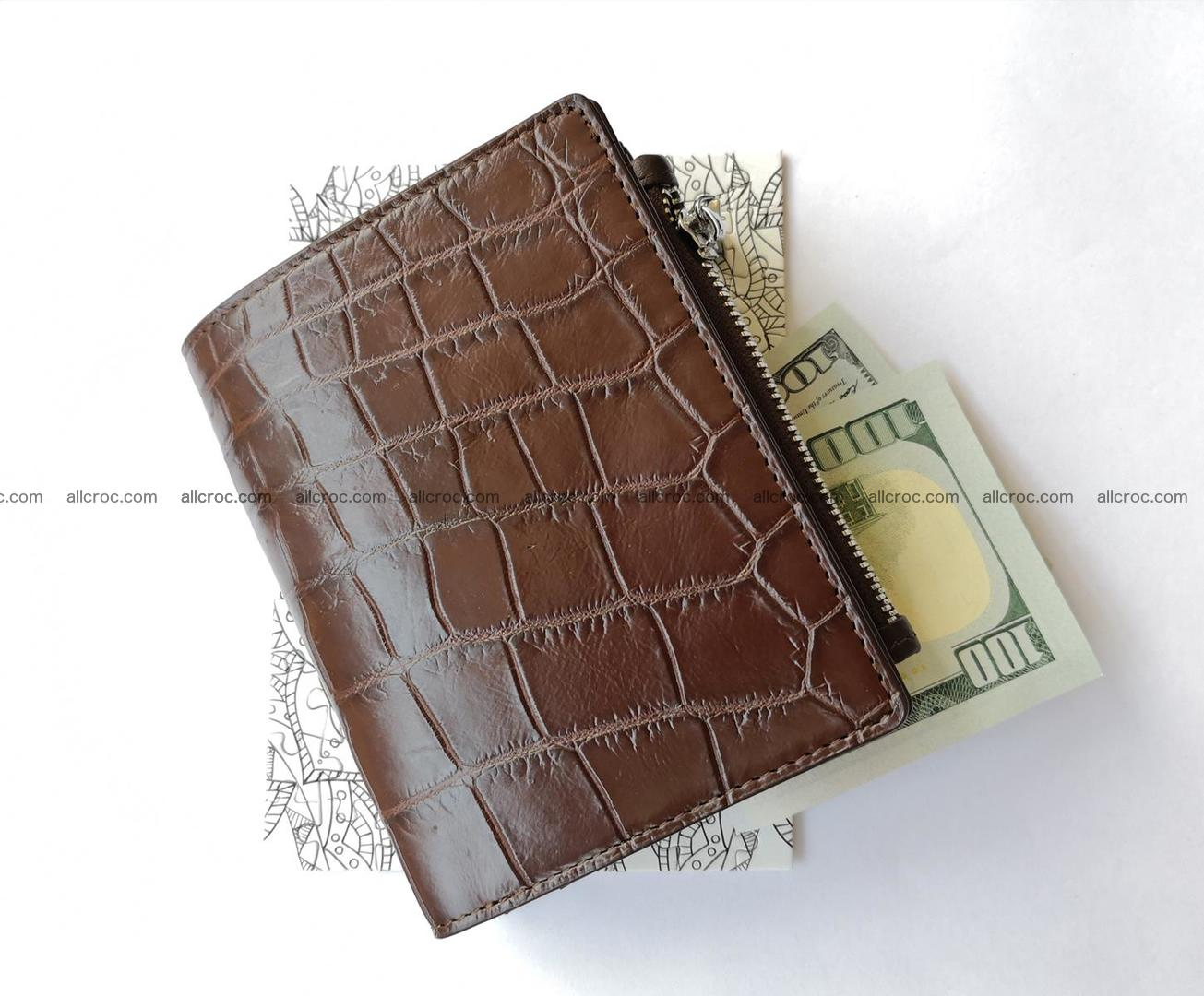 Genuine crocodile skin wallet belly part 392 Foto 2