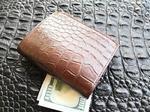 Genuine crocodile skin wallet belly part 392