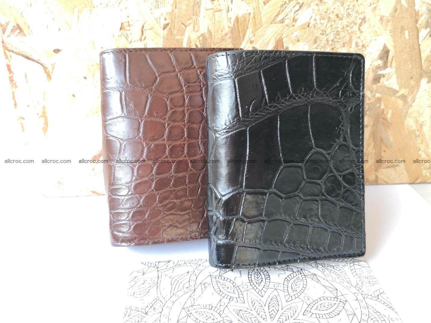 Genuine crocodile skin wallet belly part 392 Foto 3