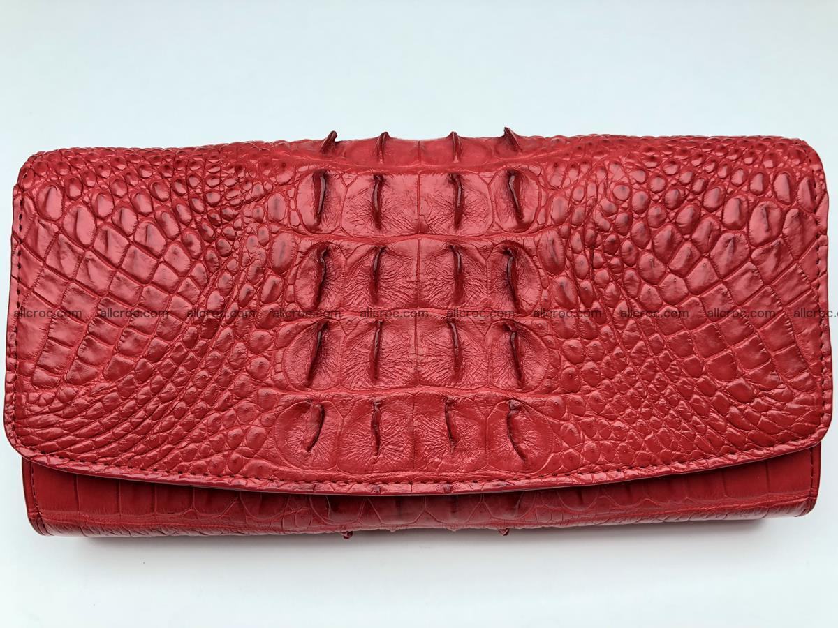 Genuine Crocodile skin wallet, trifold, long wallet for women 453 Foto 0