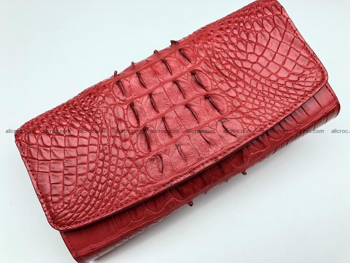 Genuine Crocodile skin wallet, trifold, long wallet for women 453 Foto 2