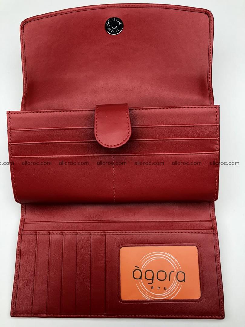 Genuine Crocodile skin wallet, trifold, long wallet for women 453 Foto 9