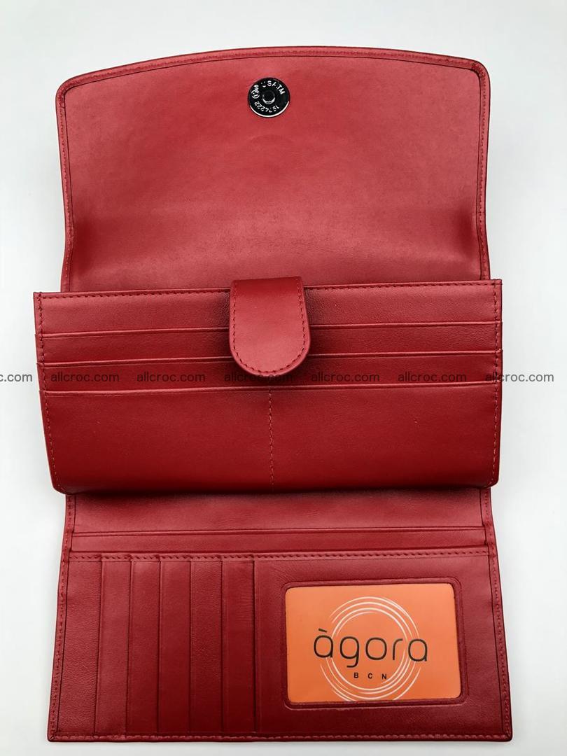Genuine Crocodile skin wallet, trifold, long wallet for women 453 Foto 10