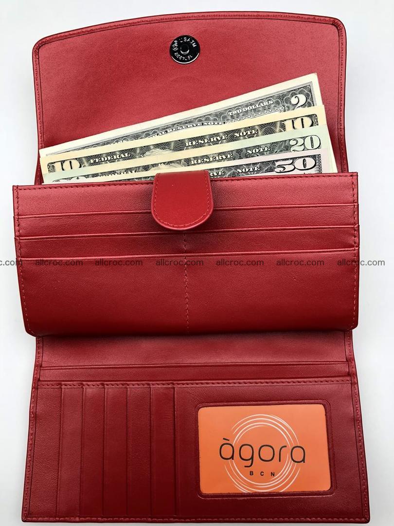 Genuine Crocodile skin wallet, trifold, long wallet for women 453 Foto 8
