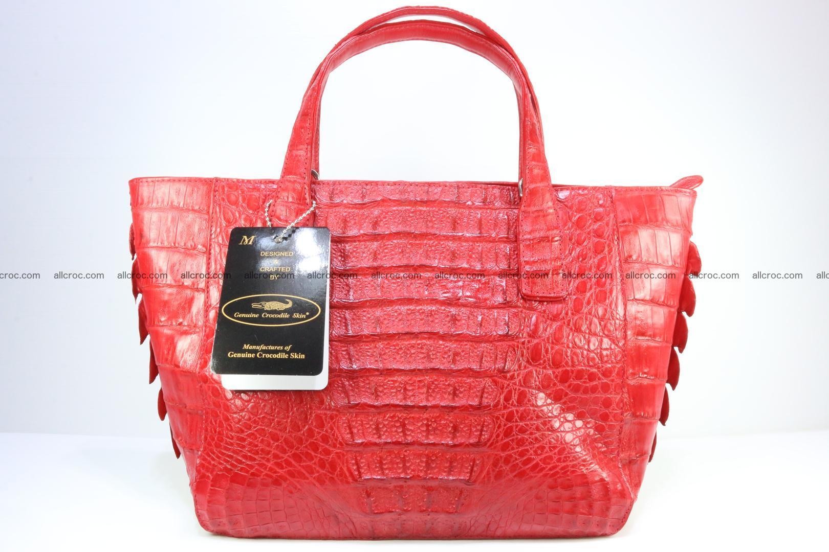 Genuine crocodile women's handbag 052 Foto 1
