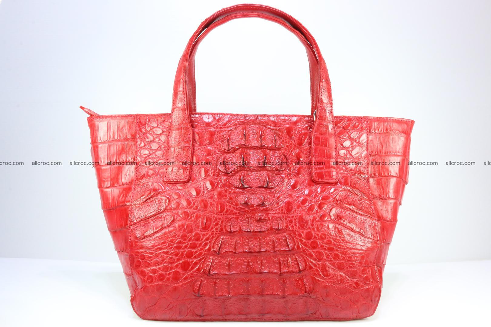 Genuine crocodile women's handbag 052 Foto 0
