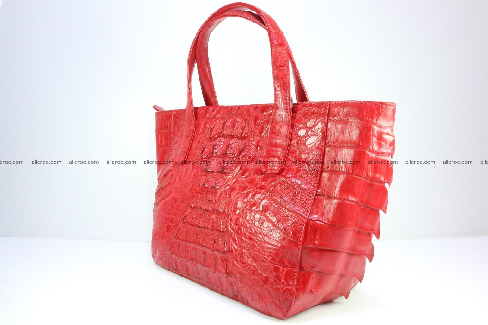 Genuine crocodile women's handbag 052 Foto 3
