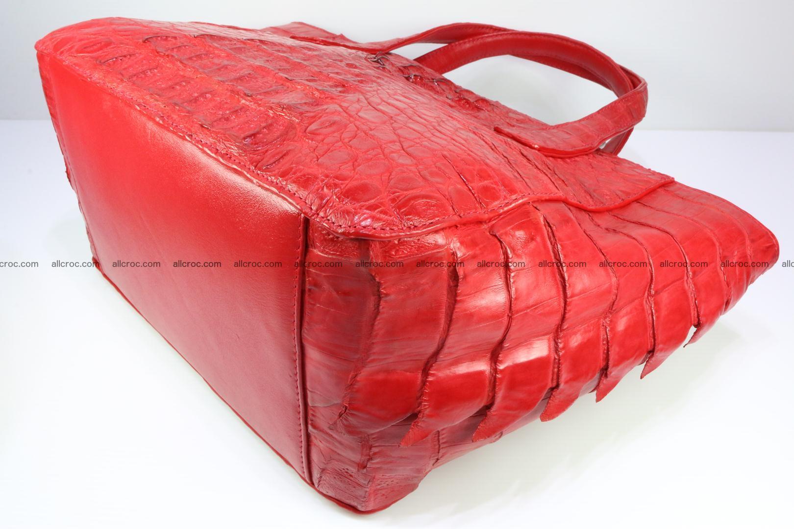 Genuine crocodile women's handbag 052 Foto 9