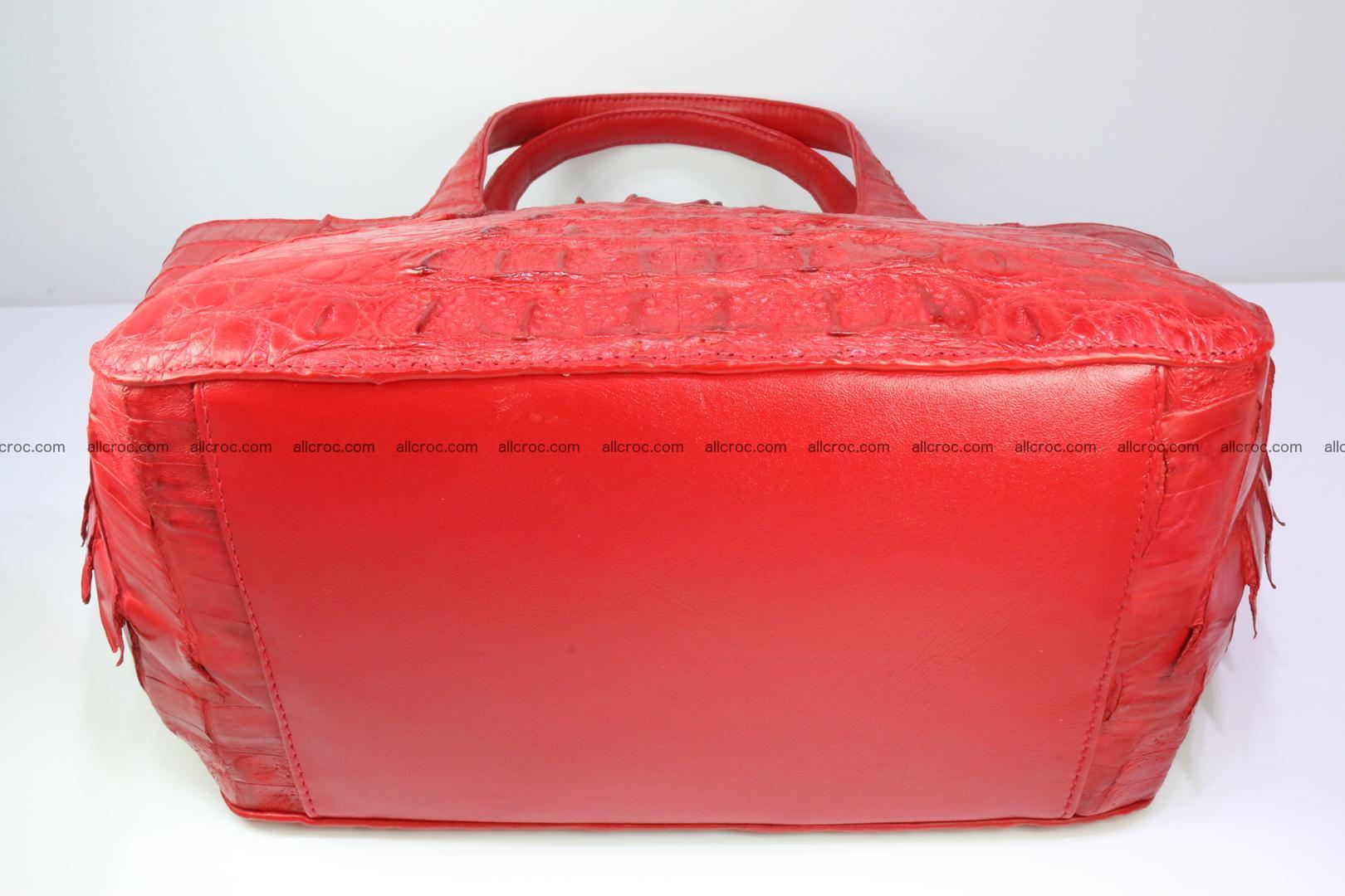 Genuine crocodile women's handbag 052 Foto 10