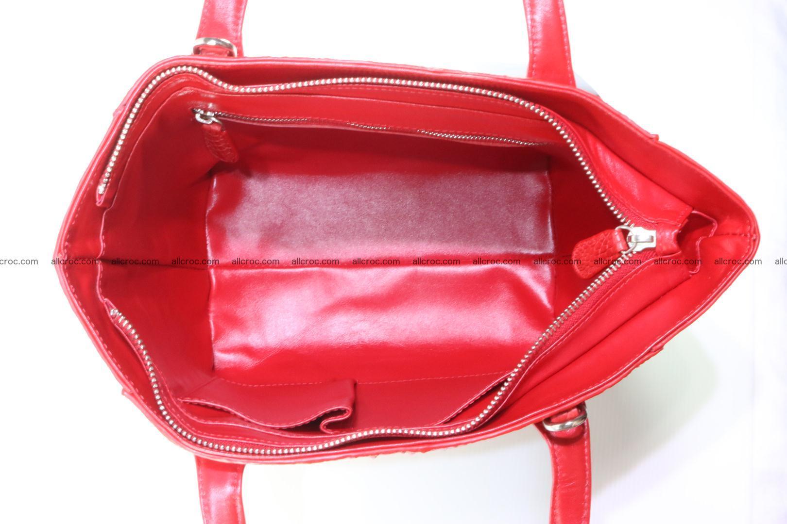 Genuine crocodile women's handbag 052 Foto 12